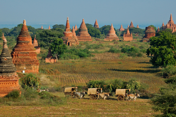 蒲甘以其歷史古蹟和不同時期的2000座古蹟聞名,是緬甸最重要的歷史遺跡群。圖:www.tourism.gov.mm/翻攝