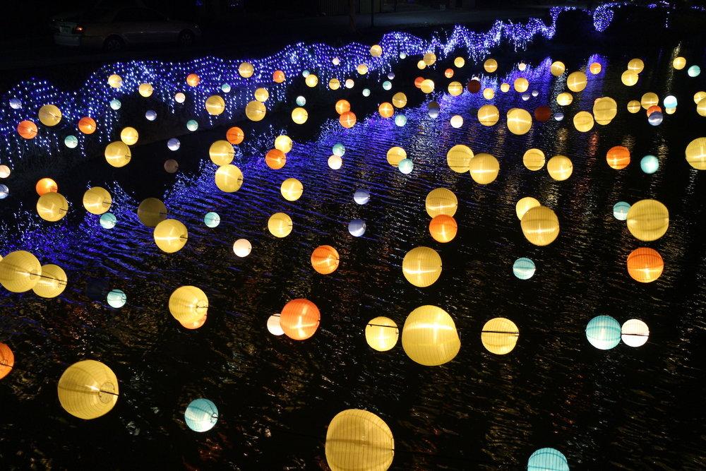 月津港燈節「光環境」圖:台南市政府/提供