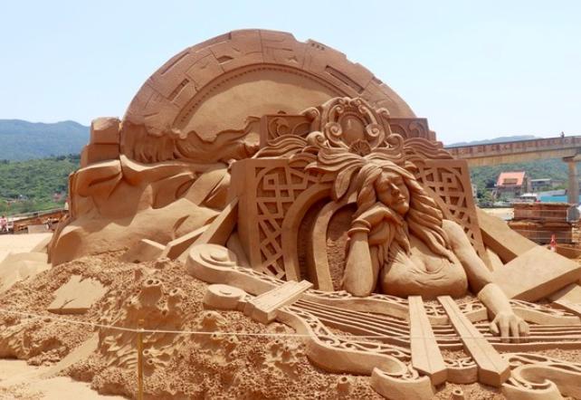 沙雕作品/謬思女神。圖:交通部觀光局/提供