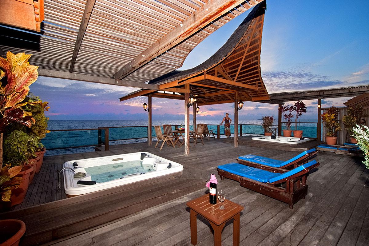 馬布島上的度假村,是個讓人放鬆自我的好地方。圖:馬來西亞觀光局/提供