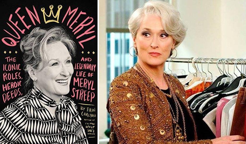 ▲奧斯卡影后梅莉史翠普出新書《Queen Meryl:The Iconic Roles, Heroic Deeds and Legendary Life of Meryl Streep》。(合成圖)