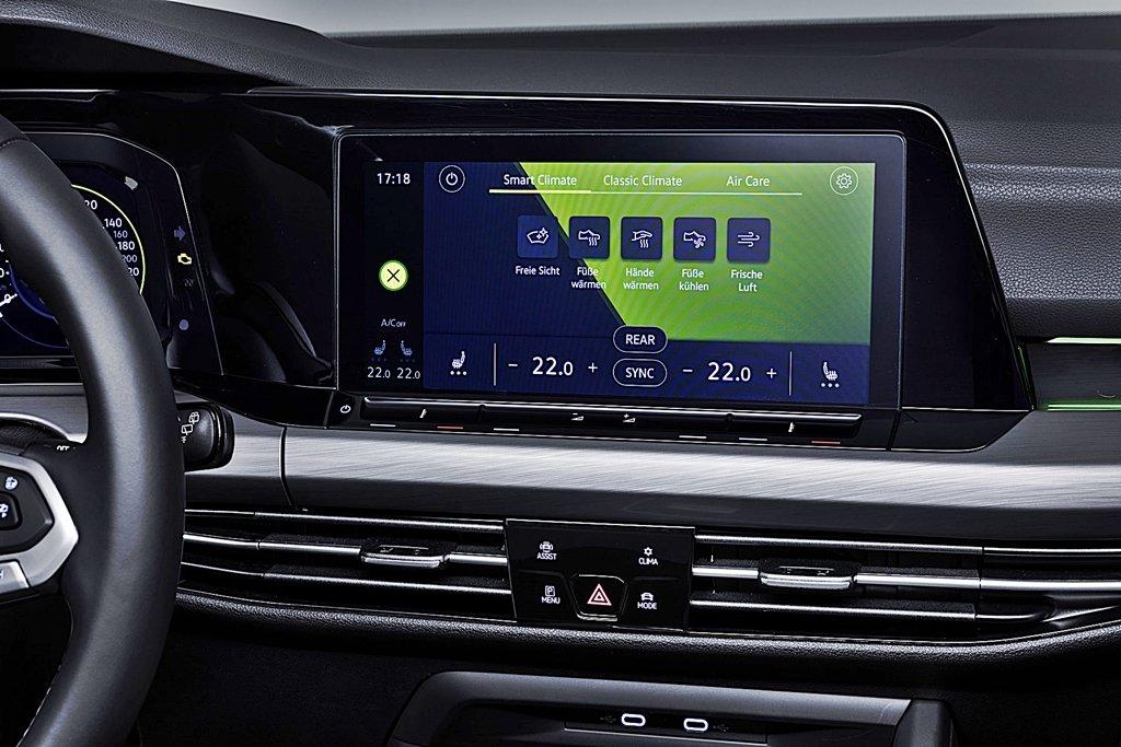 VW福斯汽車預告2020年式Golf將配備Air Care Climatronic聲控空調