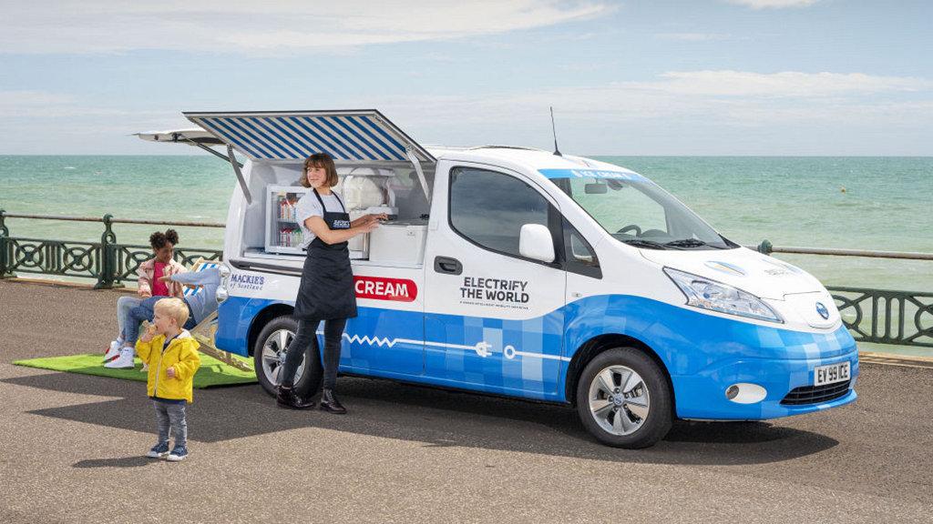 沒有「ICE」的冰淇淋車?NISSAN e-NV200展現零碳排未來