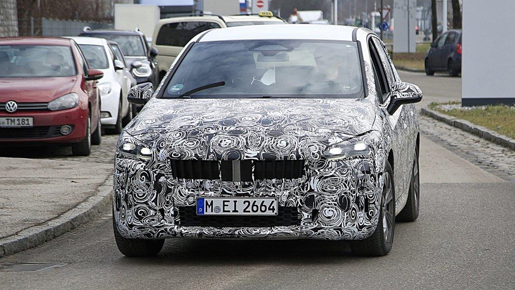 BMW全新2代2 Series Active Tourer輕偽裝間諜照流出,車身尺碼放