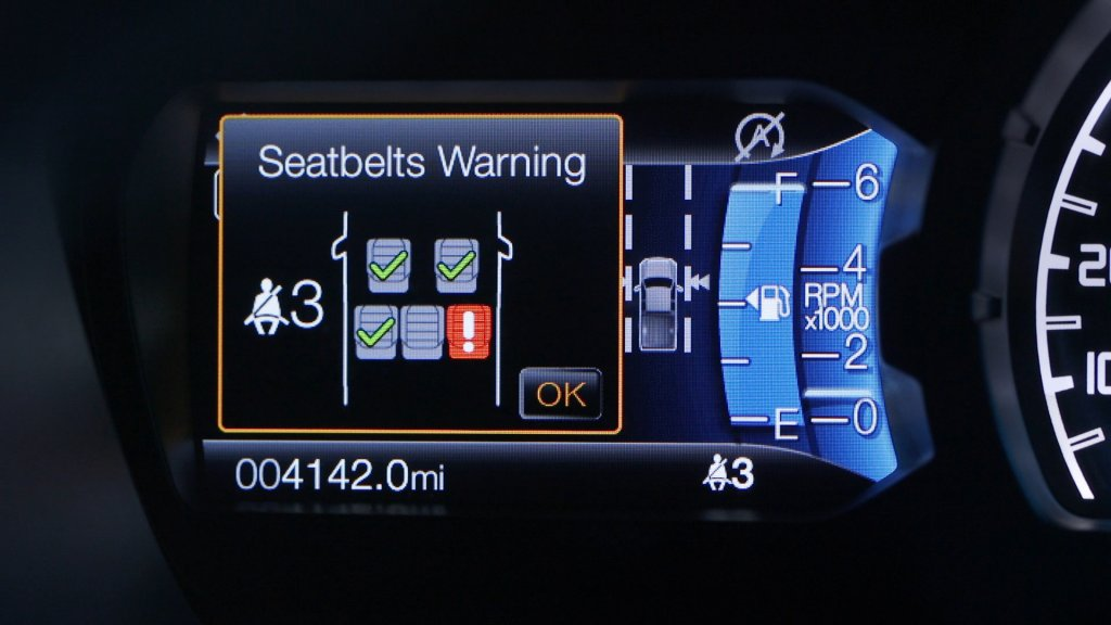 誰沒繫安全帶不必往後看,FORD Ranger首次搭載Belt Monitor