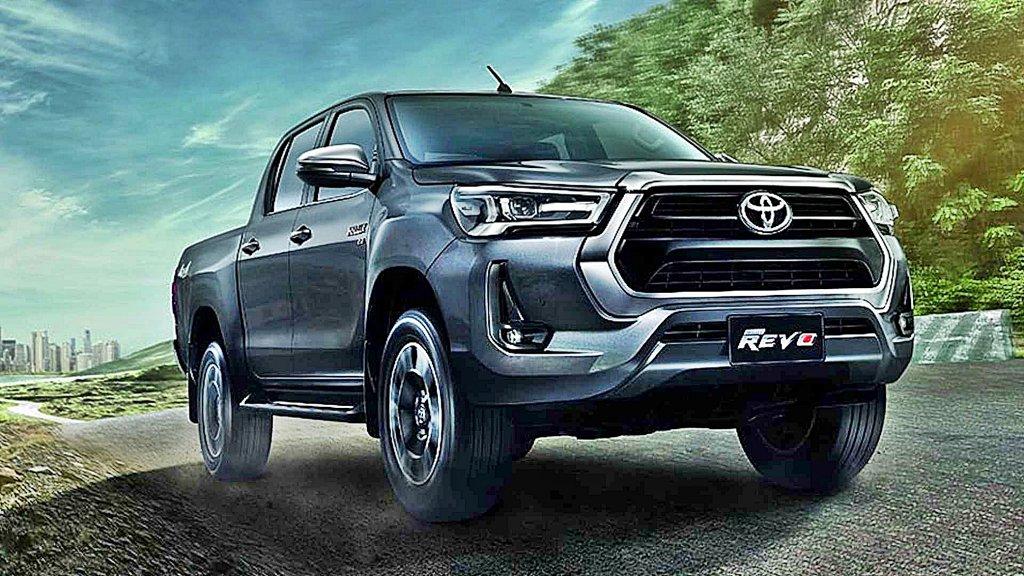 TOYOTA中型皮卡Hilux小改款泰國首發,外型小改並追加新動力與主