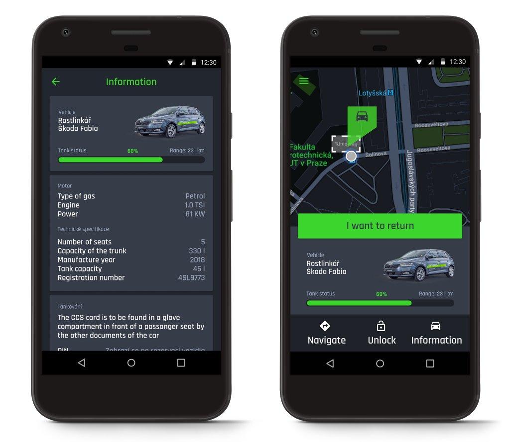 SKODA在歐洲首次推出汽車共享平台Uniqeway,大學生開車每小時41.