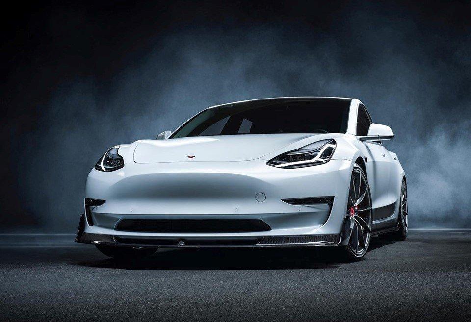 電動車也可以很狂,Vorsteiner發表TESLA Model 3外觀改裝套件VOL