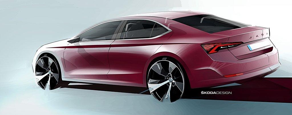 SKODA全新4代Octavia年底前發表,原廠本周提前釋出設計草圖
