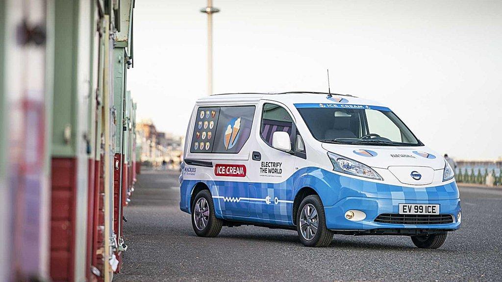 日產結合綠能和自駕科技展示待客之道, e-NV200 Ice Cream冰淇車
