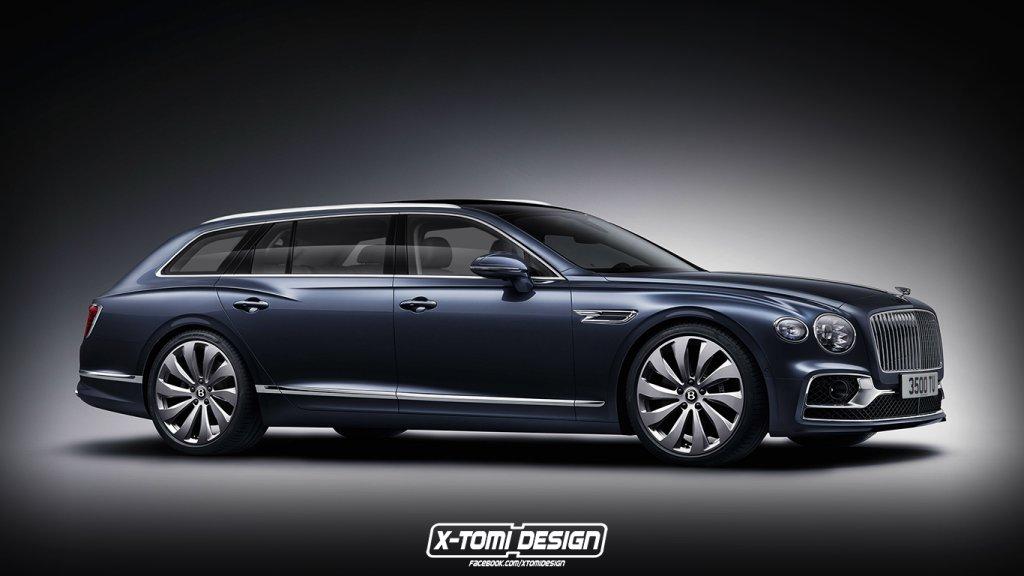 未來的訂製車款?X-Tomi Design繪製BENTLEY Flying Spur Wagon