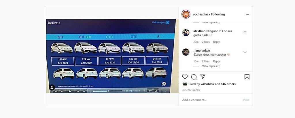 福斯8代Golf GTI無偽裝車尾照社群網站提前曝光