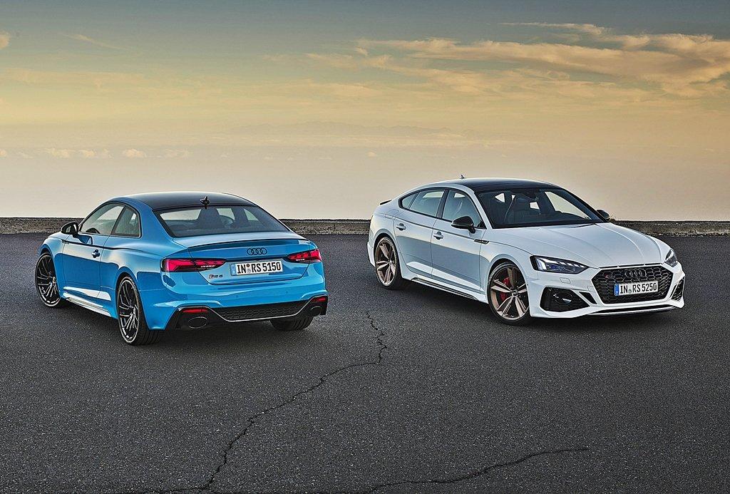 AUDI推出中期改款RS5 Coupe和RS5 Sportback動力不變,外型鮮味十