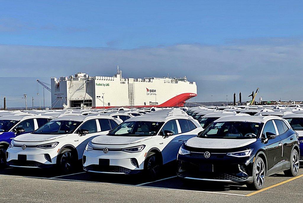 福斯殺手級電動車ID.4跨界休旅本周出廠登船銷往全球市場,預計今