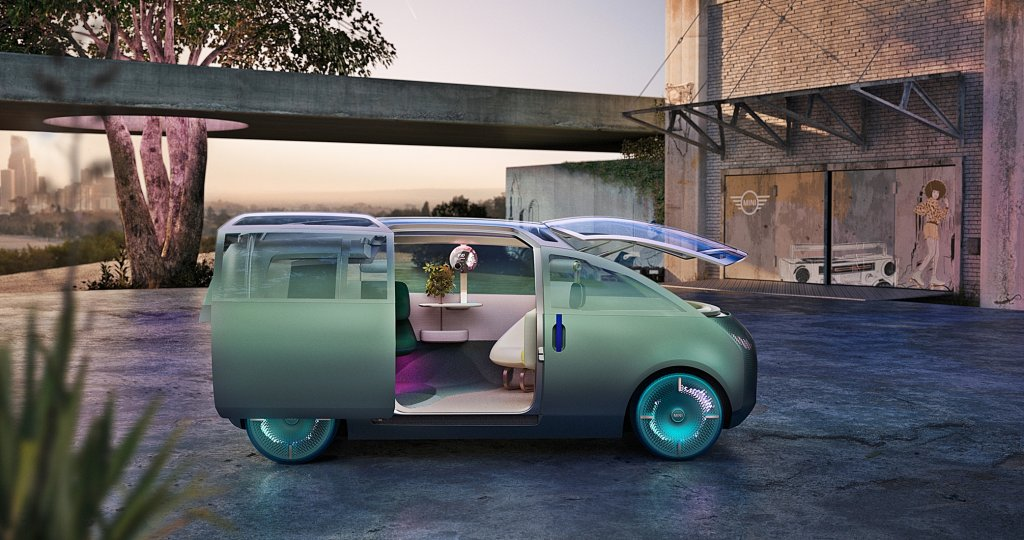 MINI發表自駕電動概念車Mini Vision Urbanaut,創造未來小車超大