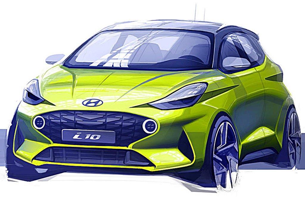 小而強悍的HYUNDAI都會小車i10釋出設計草圖