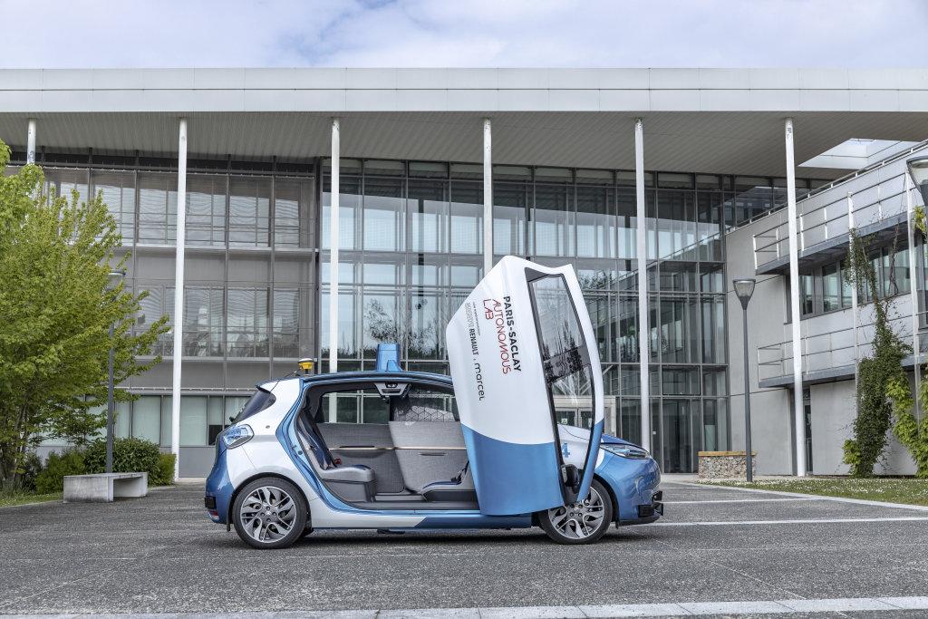 RENAULT在法國啟動自動駕駛計畫,鍘刀式Zoe Cab用來吸引學生