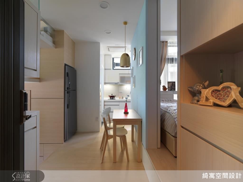 開放式的餐廚空間,流暢的動線規劃,讓生活更便利。