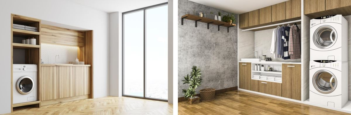 雅登廚飾善用櫥櫃設計專業,將原本被忽略的家事處理區納入設計中,讓家變得井然有序。