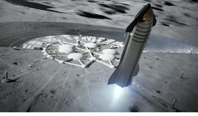 Starship火箭示意圖(圖片:CNBC)