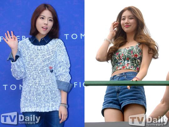 Tiny-G成員度希、Miss A成員秀智