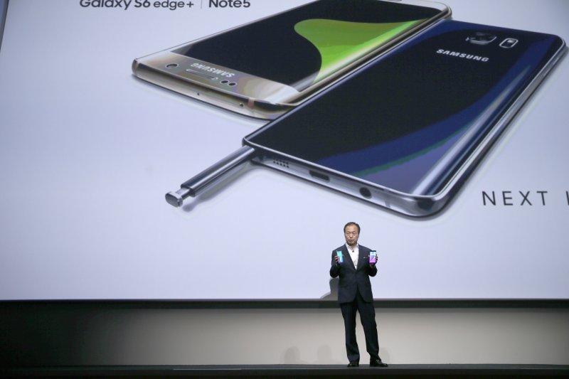 手機大廠三星13日發表2款新手機。(美聯社)