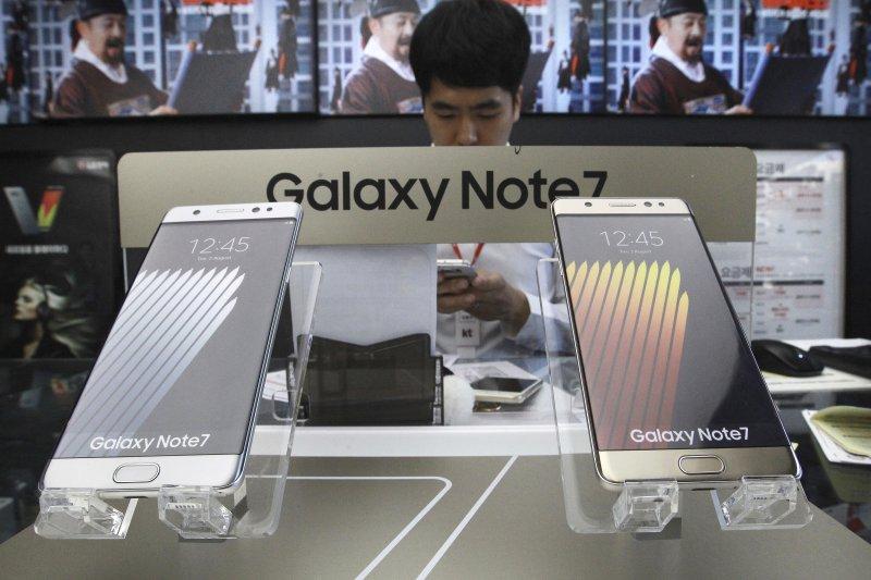 三星旗艦機Galaxy Note7(美聯社)