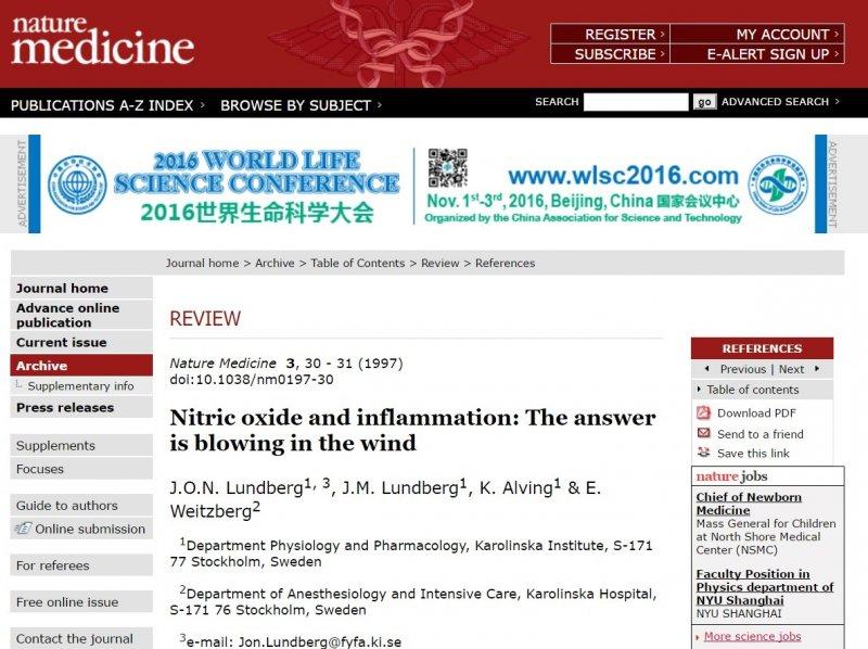 自然醫學期刊,聲明:截圖是為教育與也宣傳《The BMJ》期刊。.