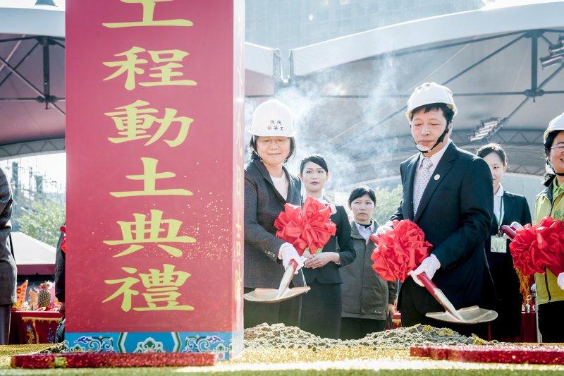 蔡英文總統12月19日出席「桃園市社會住宅動土典禮」儀式(總統府)