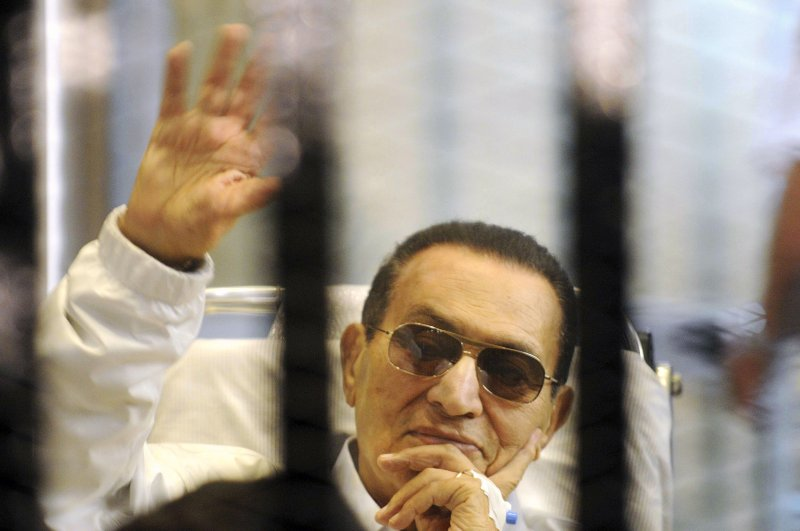 穆巴拉克2013年出席審判。(美聯社)